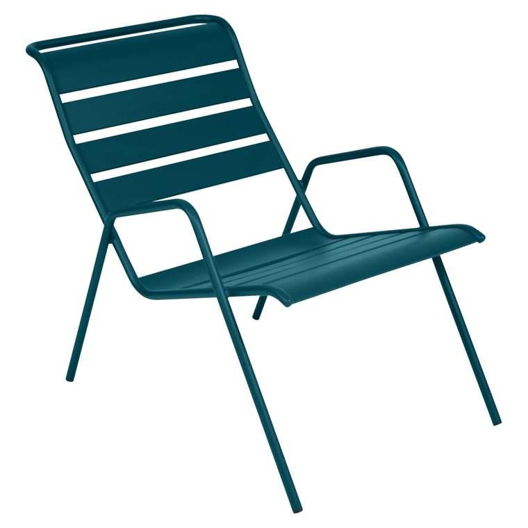 Fauteuil bas Monceau bleu acapulco 659515