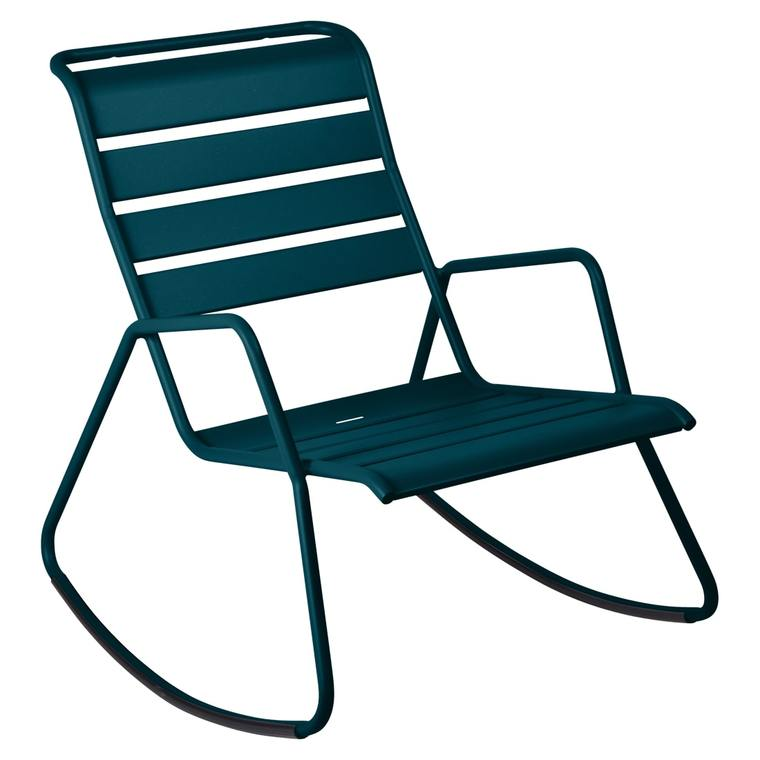 Rocking chair Monceau FERMOB bleu acapulco L68xl78xh88 659517