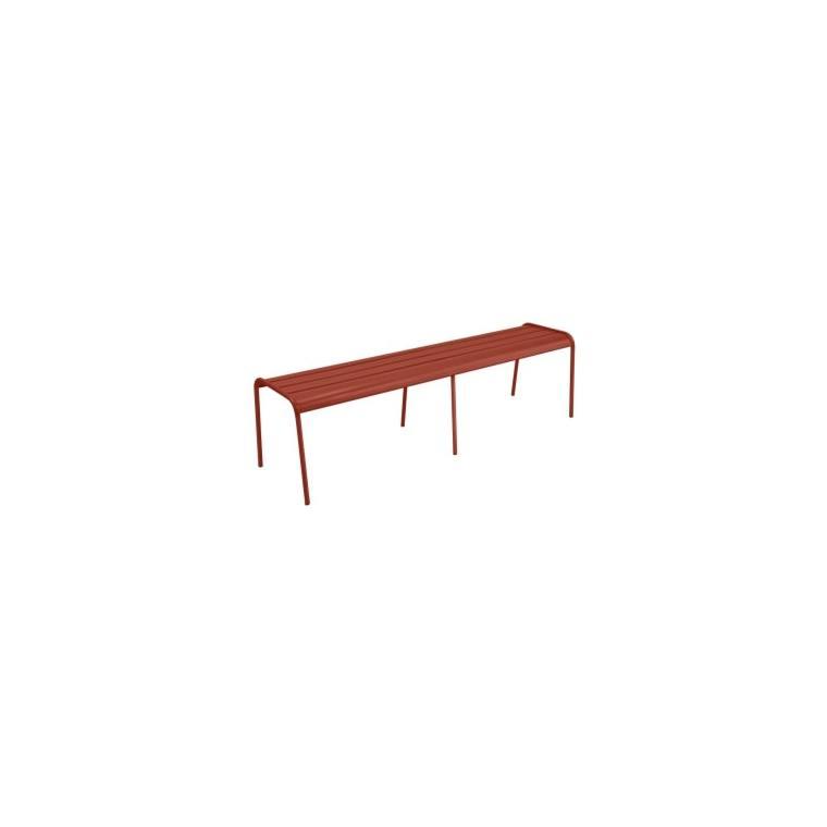 Banc Monceau XL Fermob en acier coloris ocre rouge 160 cm 659520