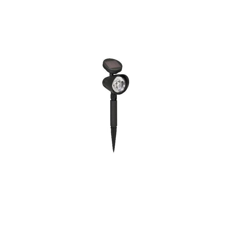Spot solaire Lazise en plastique noir à LED blanc chaud 8x11x35,5 cm 659558