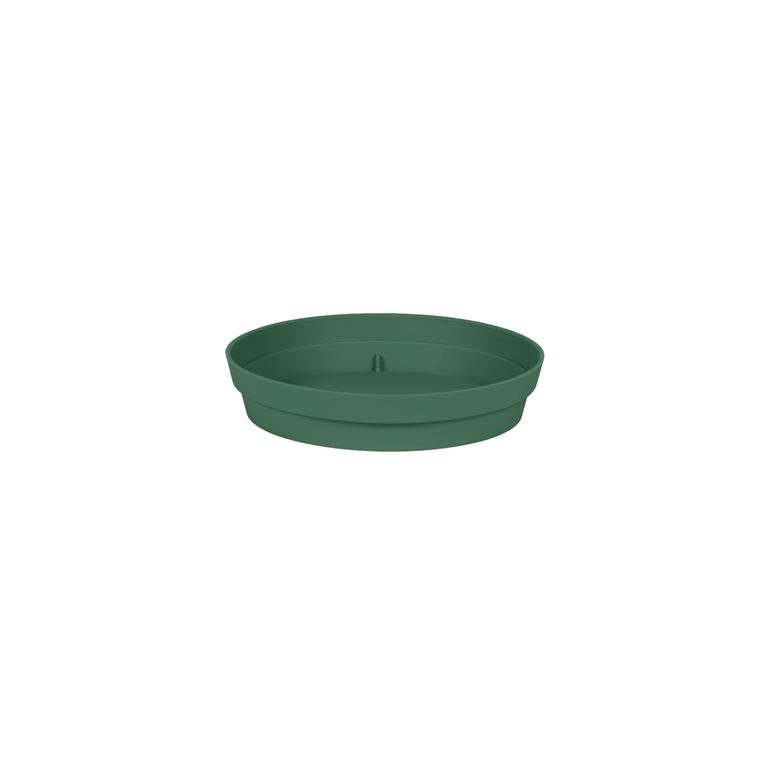 Soucoupe Toscane en polypropylène coloris vert jungle Ø 18,5 x 3,6 cm 659721