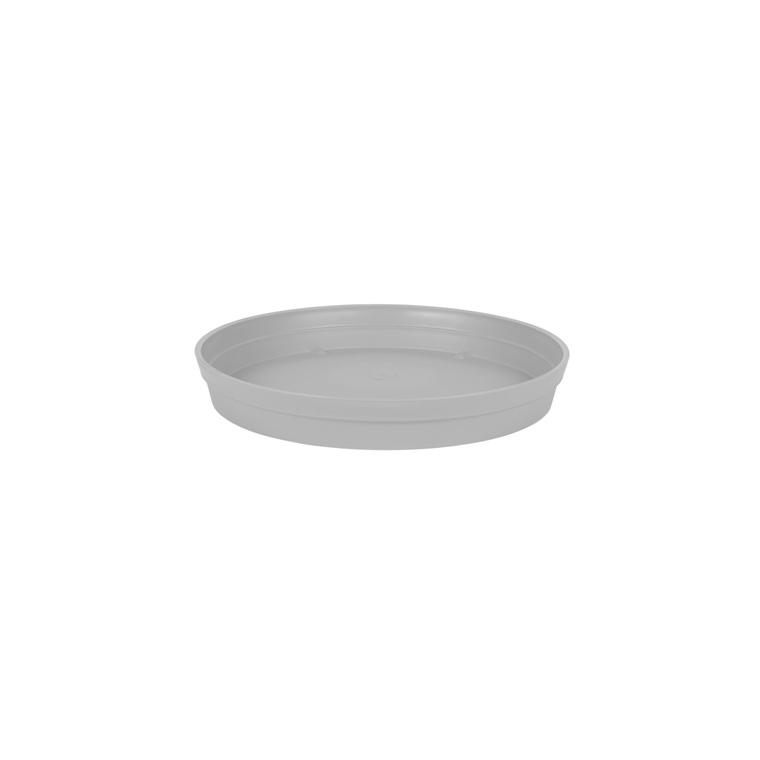 Soucoupe Toscane en polypropylène coloris gris béton Ø 34 x 4,5 cm 659724