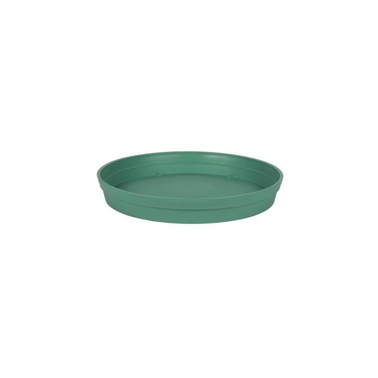Soucoupe Toscane en polypropylène coloris vert jungle Ø 40 x 5,8 cm 659727