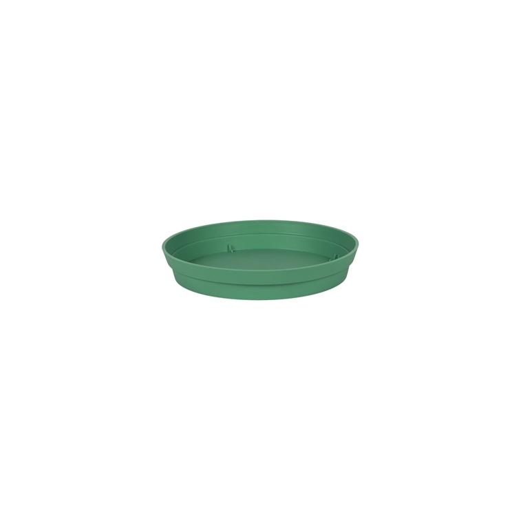 Soucoupe Toscane en polypropylène coloris vert jungle Ø 22,5 x 3,8 cm 659735