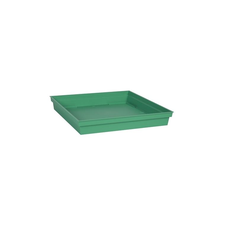 Soucoupe Toscane carrée coloris vert jungle 32 x 32 x 4,9 cm 659737