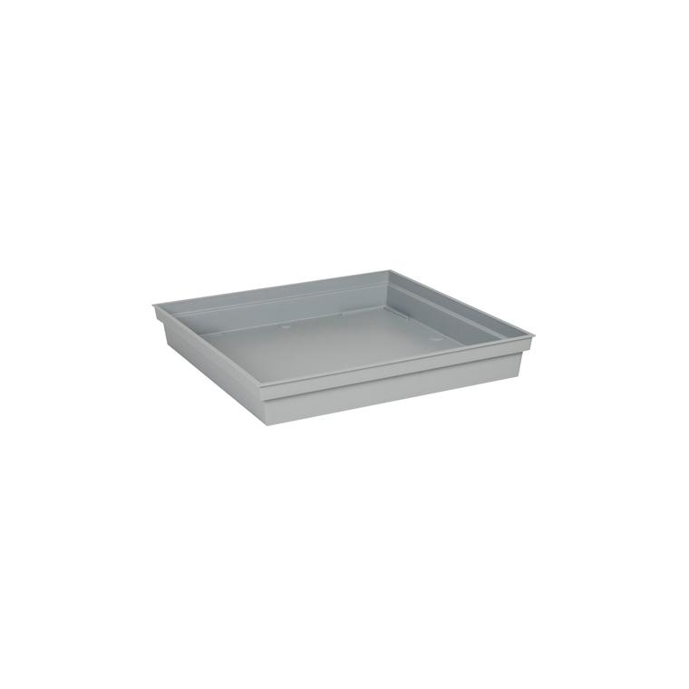 Soucoupe Toscane carrée coloris gris béton 40 x 40 x 5,9 cm 659770