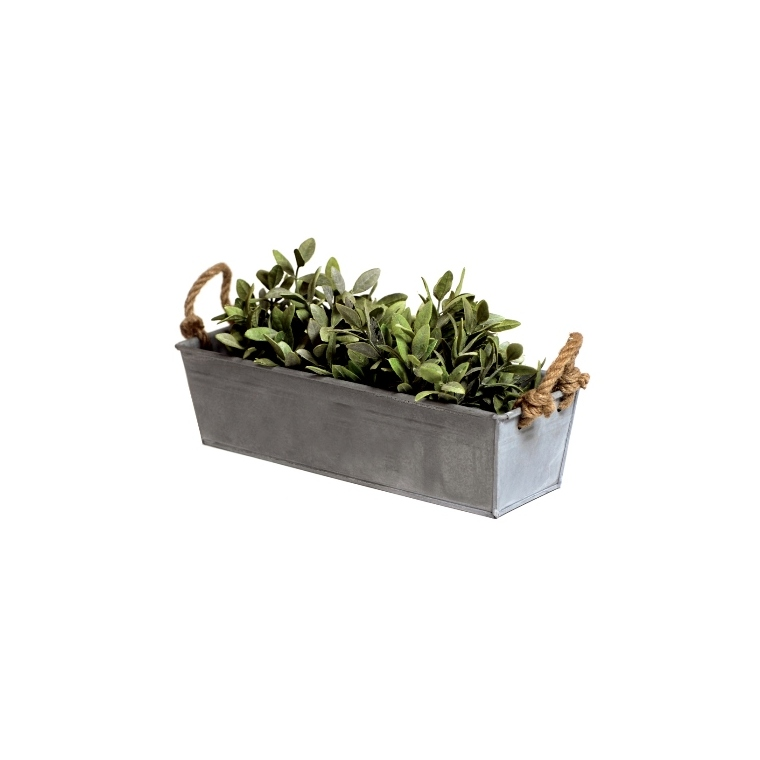 Jardinière rectangulaire en Zinc - 44x15x13 cm 659913