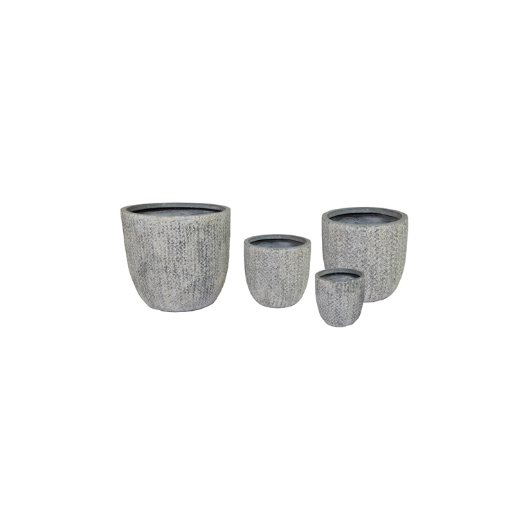 Pot gris Indiana 12,5L – 39x38 cm 659931
