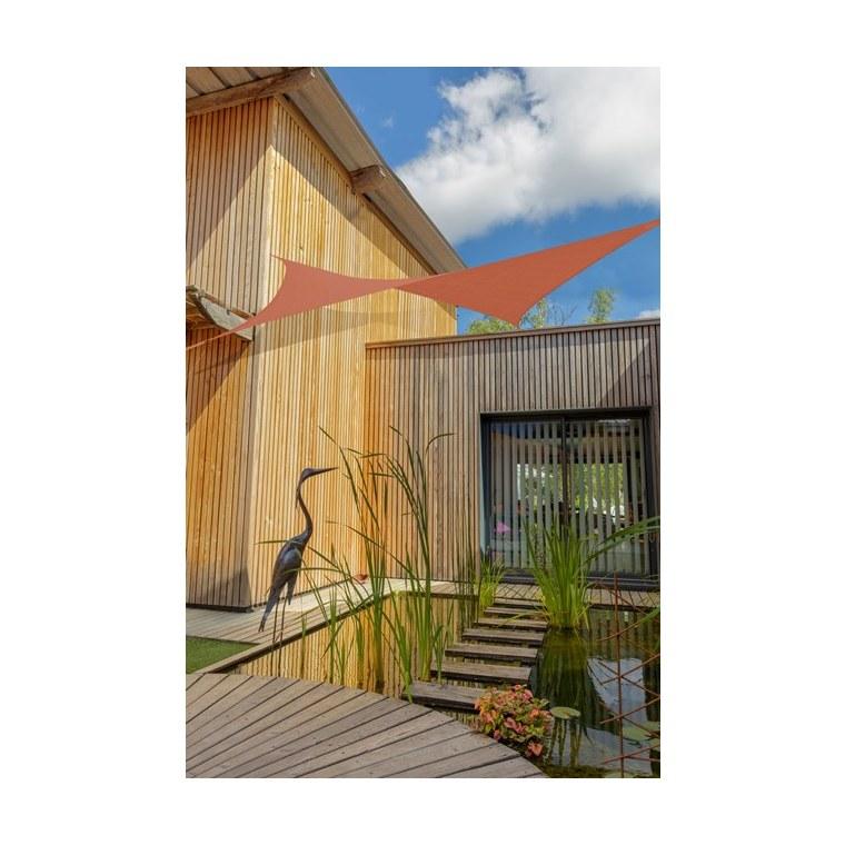 Voile ombrage camel 3,6 m carré extensible 660069
