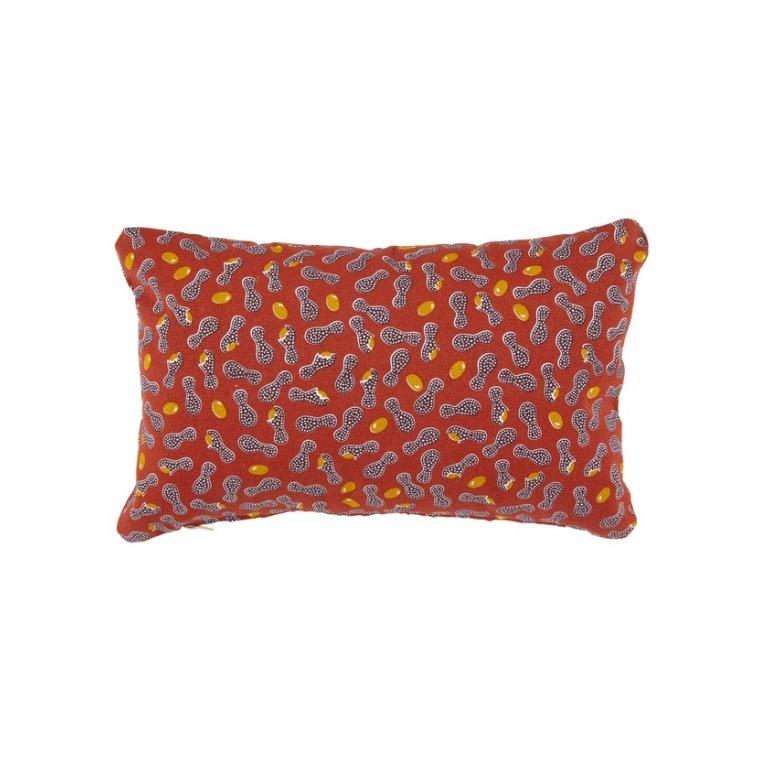 Coussin Envie d'Ailleurs Cacahuètes Fermob coloris ocre rouge 44 x 30 cm 660072