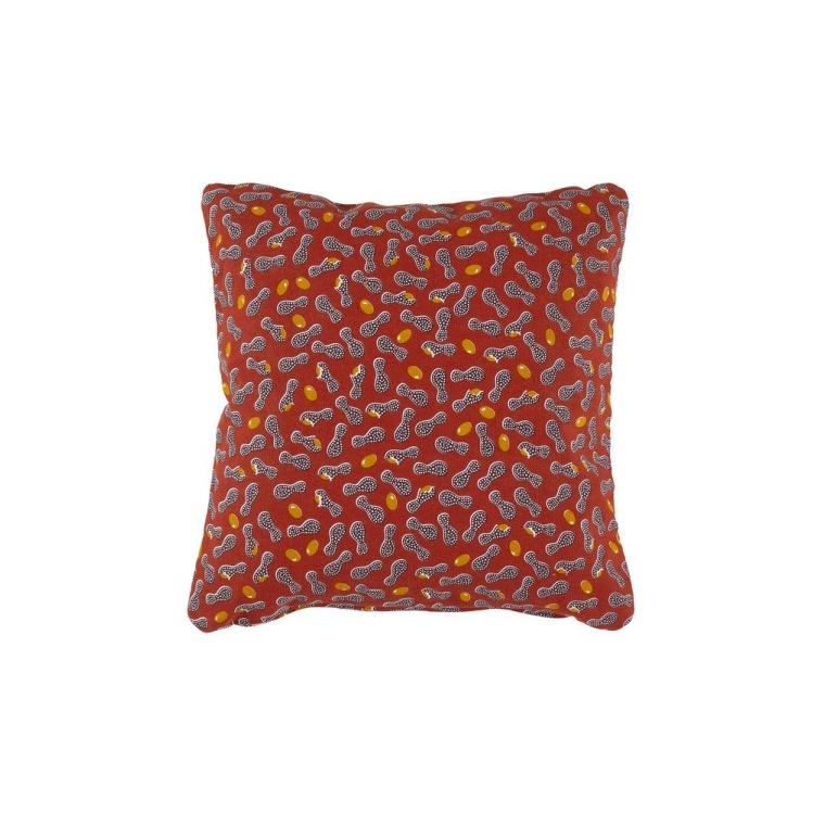 Coussin Envie d'Ailleurs Cacahuètes Fermob coloris ocre rouge 44 x 44 cm 660073