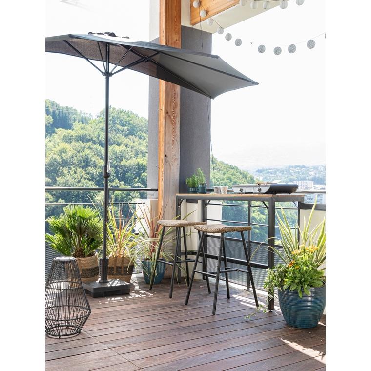 Pied de parasol pour balcon en béton 20kg 660236