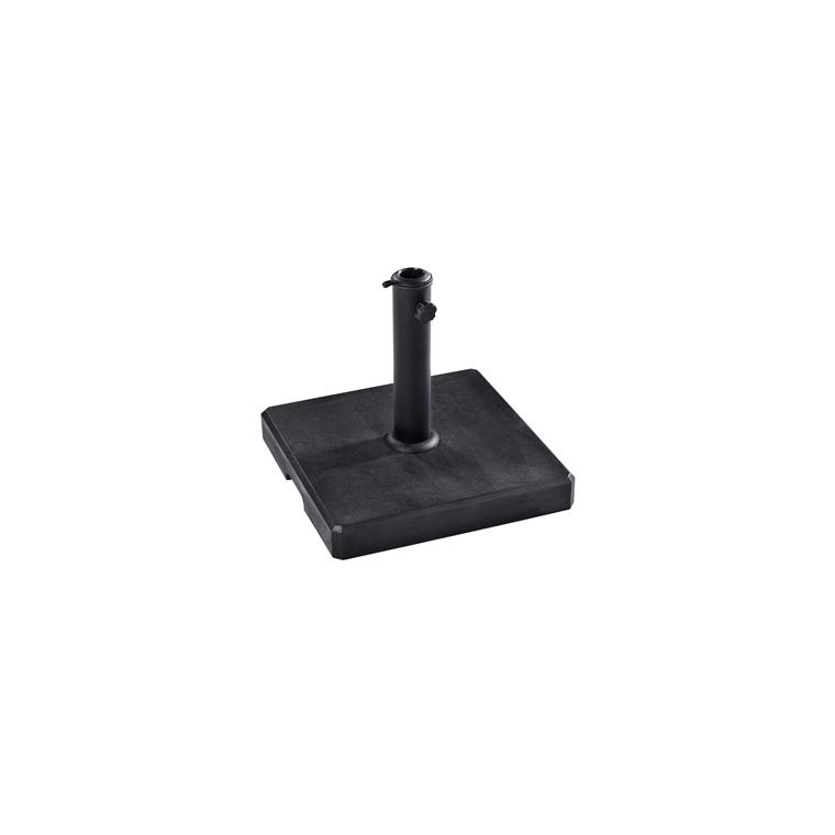 Pied de parasol carré ciré noir de 20 kg 660270