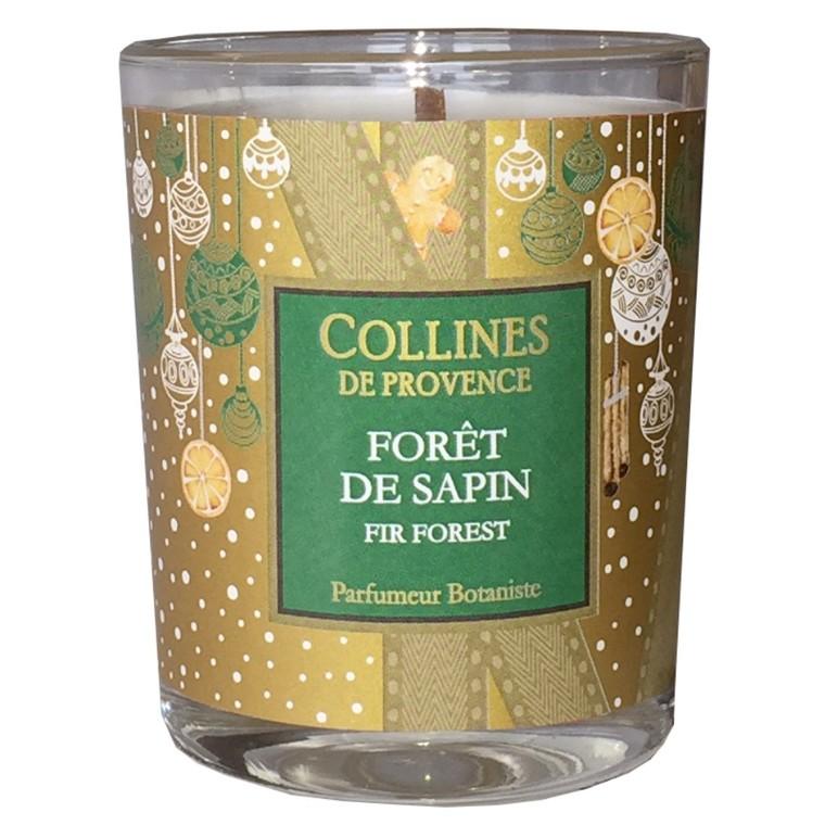 Bougie parfumée senteur forêt de sapin vert de 75 g 660308