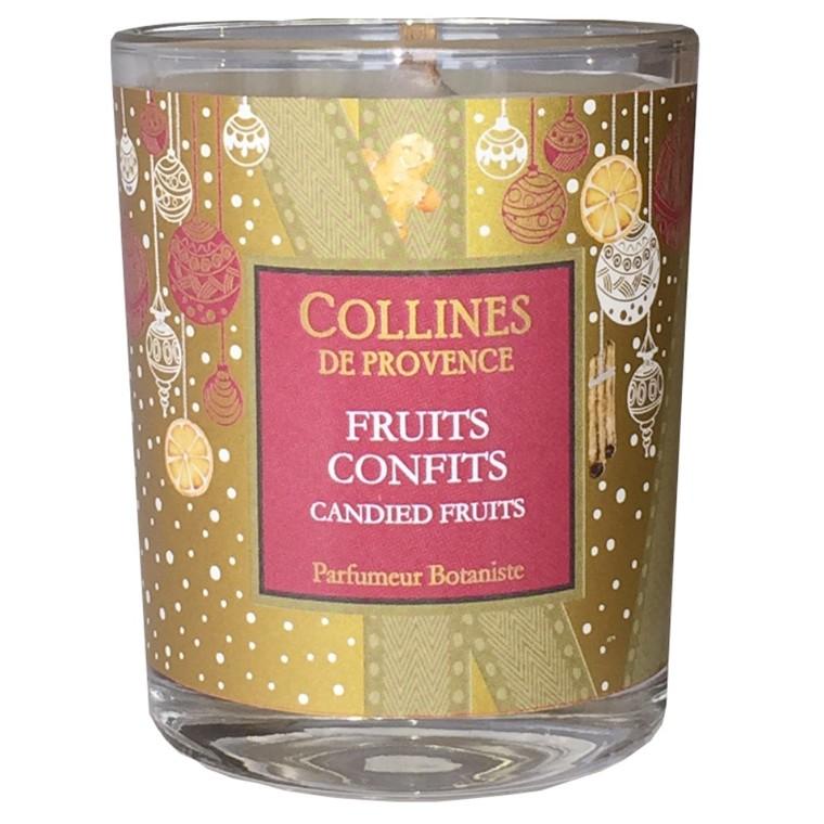 Bougie parfumée senteur fruits confits rouge de 75 g 660313