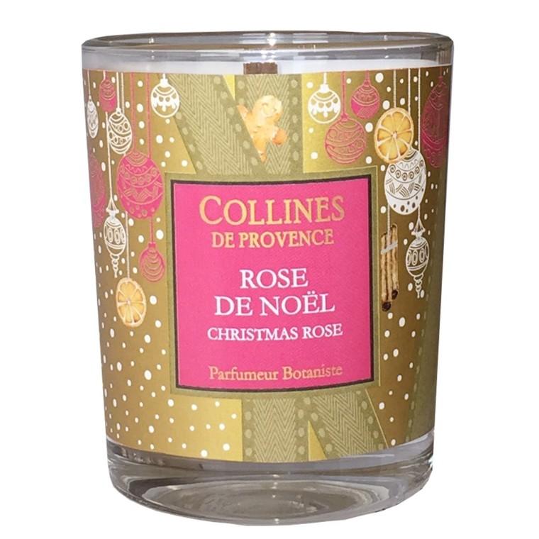 Bougie parfumée senteur rose de Noël rose de 75 g 660315