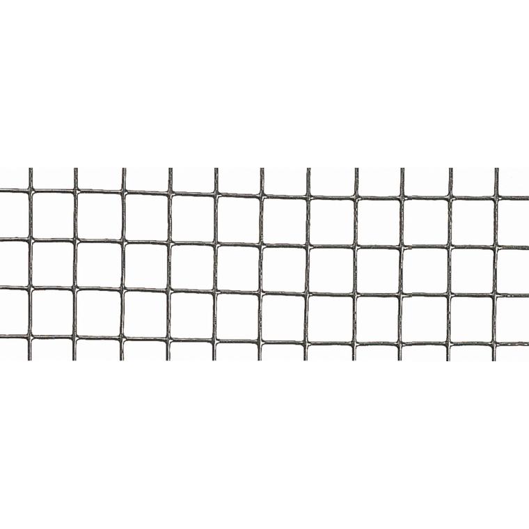 Grillage Fensanet Maille 0,64x0,64 cm Fer galvanisé Gris L2,5 m x H50 cm 660356