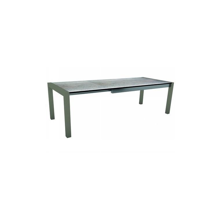 Table extensible Stern alu graphite & HPL smoky 174/214/254 x 90 cm 660812