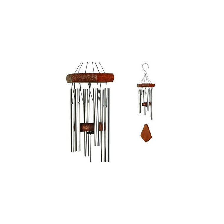 Carillon à vent coloris bois et argent 35 cm 661005