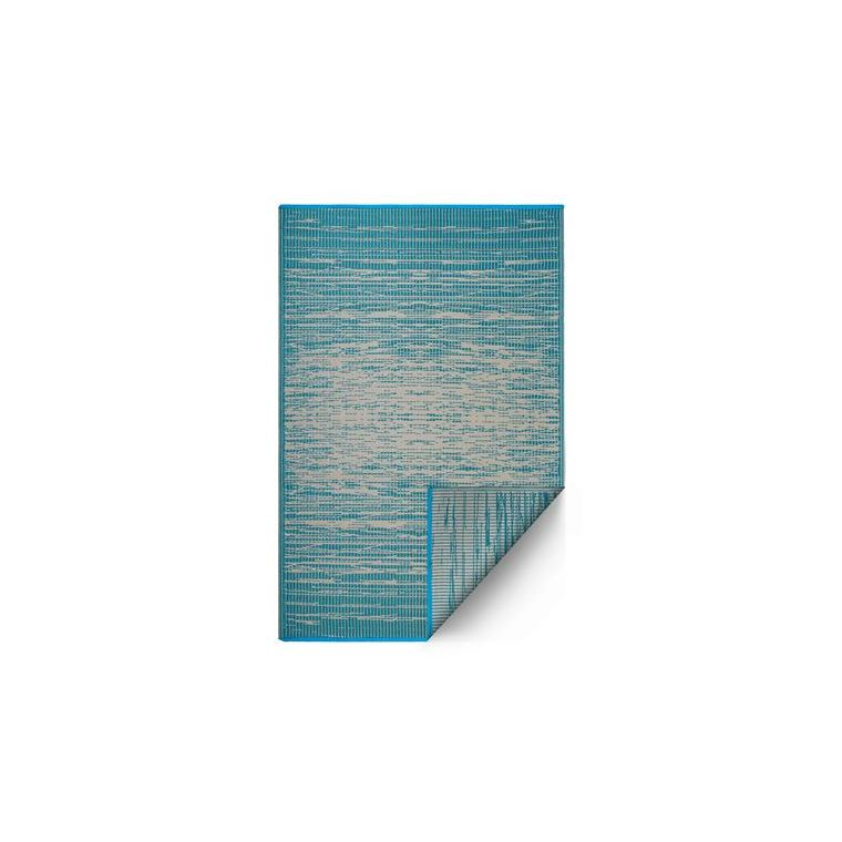 Tapis Brooklyn Ciell bleu et blanc – 90x150 cm 661143