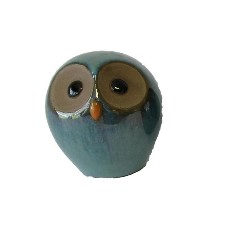 Chouettes émaillées en céramique – 10x10 cm 661400