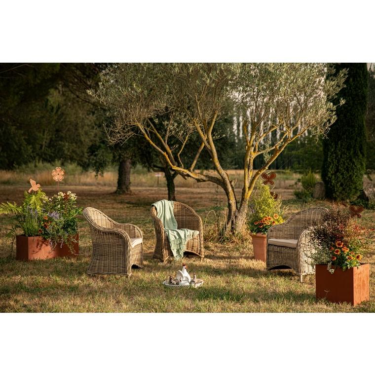 Statue de jardin poule en céramique 17 x 12 x 19 cm 661413