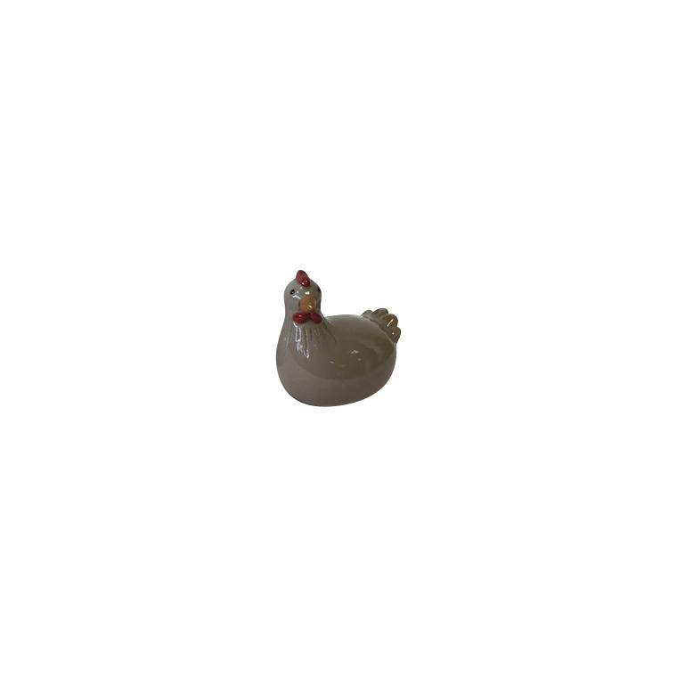 Statue de jardin poule en céramique 10,5 x 7,5 x 12 cm 661414