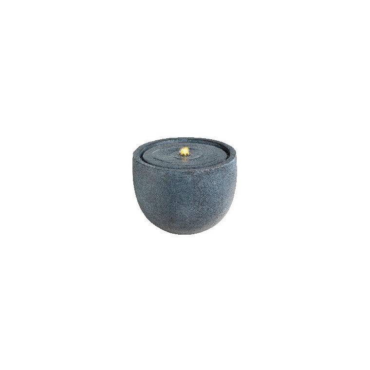 Fontaine LED type bol en grès gris foncé Ø 36 x 27 cm 661418