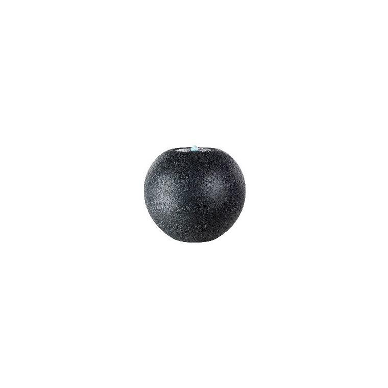 Fontaine LED en boule granit noir Ø 40 x 36 cm 661419
