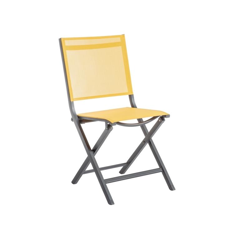 Chaise pliante Max en aluminium jaune 90 x 45 x 52 cm 661795