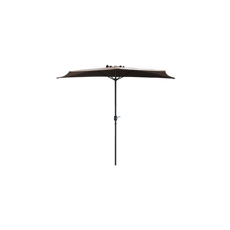 Demi-parasol couleur taupe - Ø 3m 661799