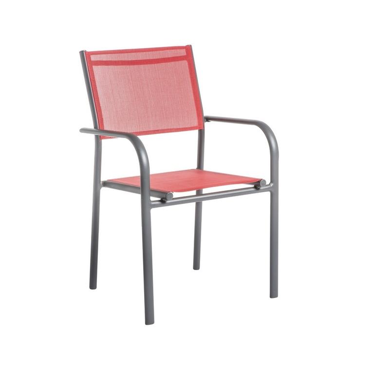 Fauteuil Niello coloris rouge 51 x 56 x 87 cm 661803