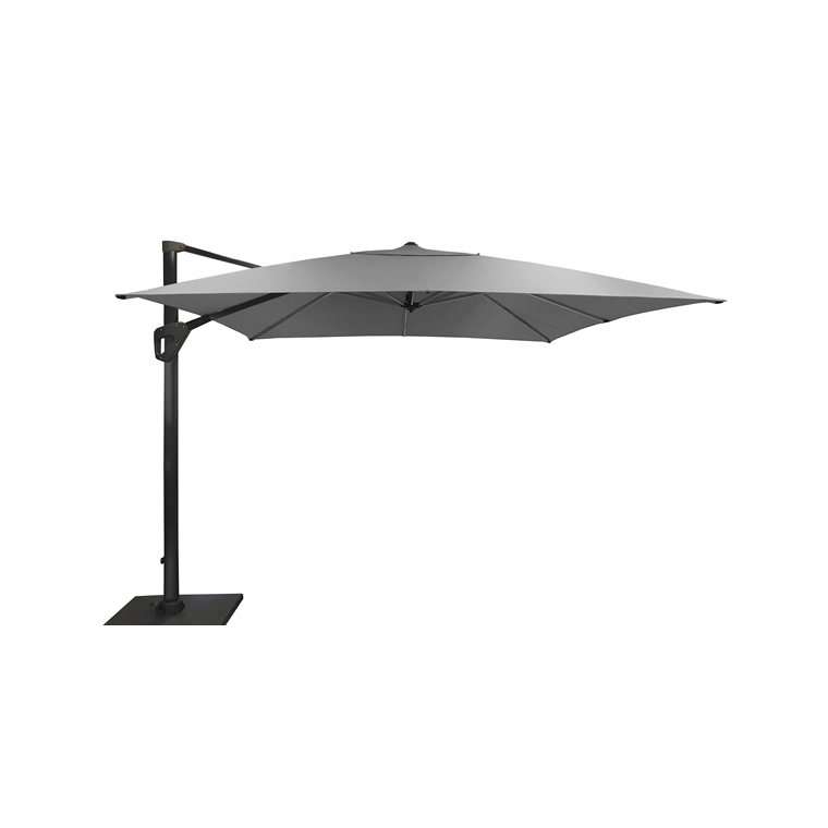 Parasol déporté rotating gris clair chiné - 4x4m 661810
