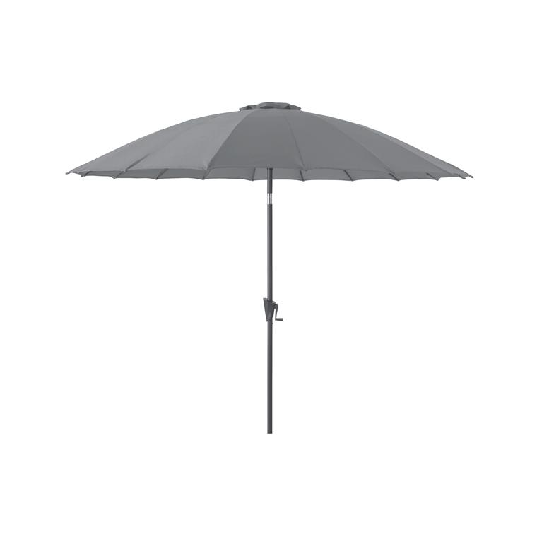 Parasol Pagode à manivelle couleur cendre - Ø 3 m 661813
