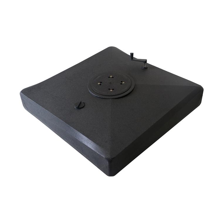 Pied à remplir sur roues – Noir 661816