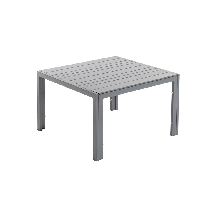 Table basse Cortes coloris grey en aluminium 93 x 63 x 36 cm 661819