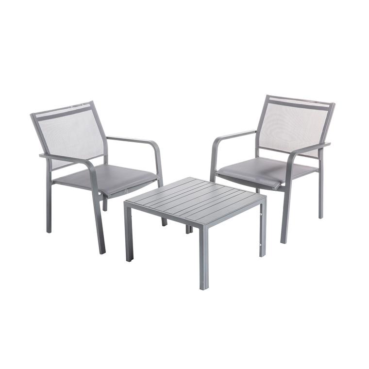 Table basse Cortes coloris grey en aluminium 62 x 62,5 x 40 cm 661820