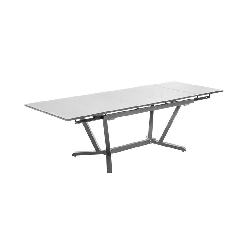 Table extensible Niello graphite perle alu et verre 150/250 x 74 cm 661946