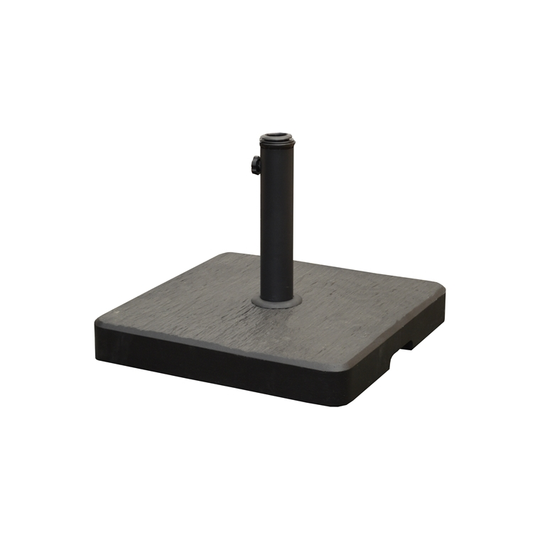 Pied de parasol carré gris anthracite 44 x 44 x 6 cm 661954
