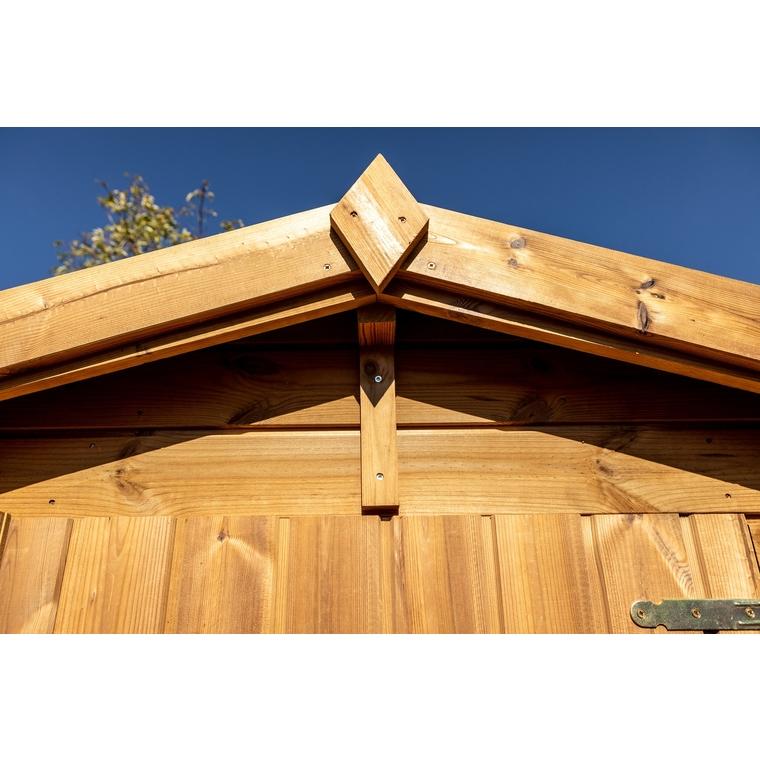 Abri en bois massif THE 190 x 187 x 204 cm livré 662018
