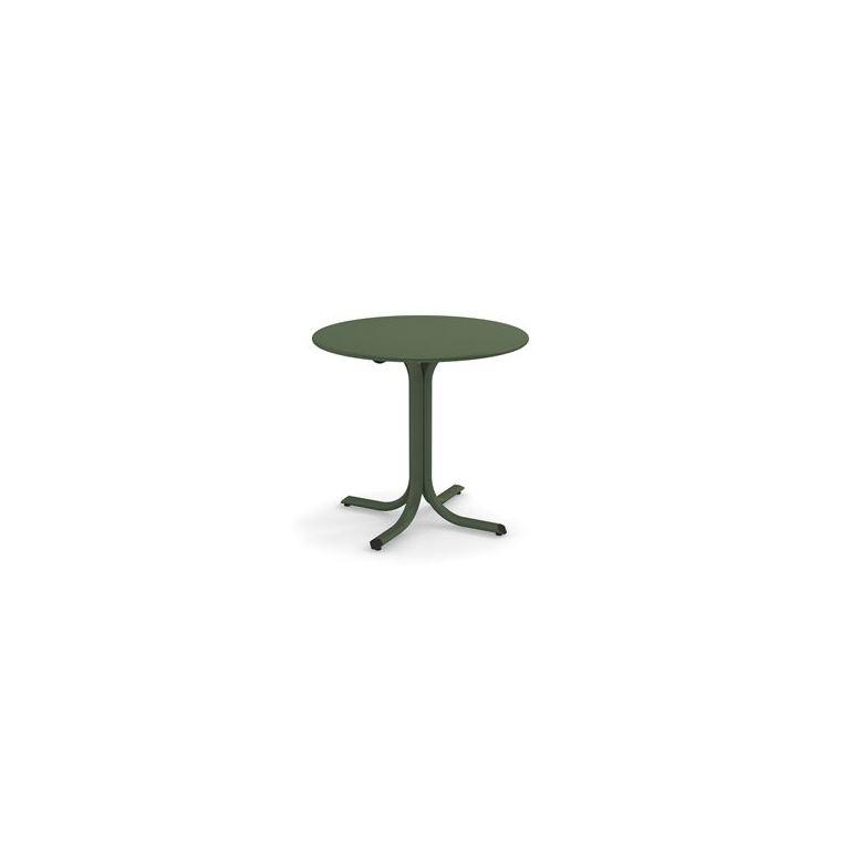 Table System ronde Emu en acier coloris vert militaire Ø 120 cm 662088