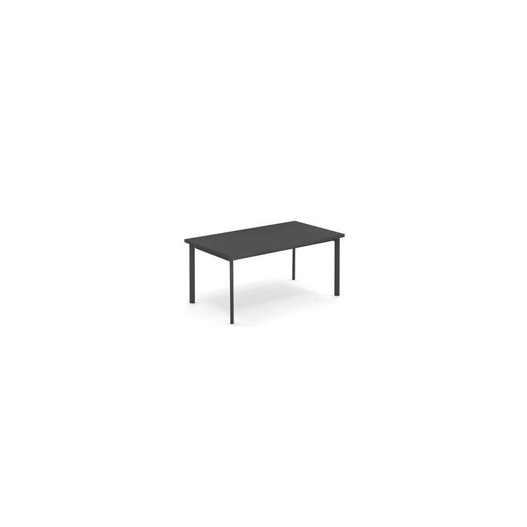 Table rectangulaire Star Emu en acier coloris fer ancien 160 cm 662090