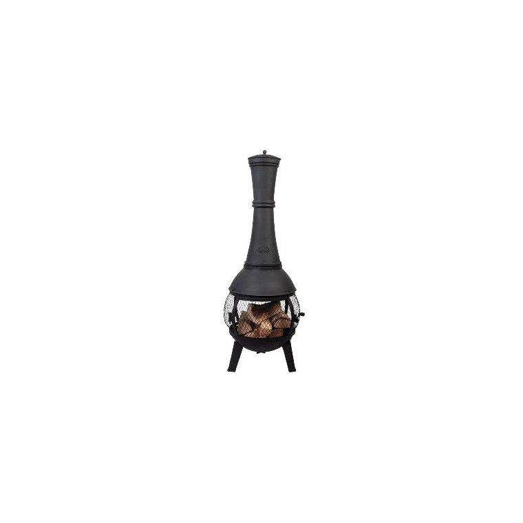 Chauffe-terrasse noir avec grillage Ø 42 x 120 cm 662091