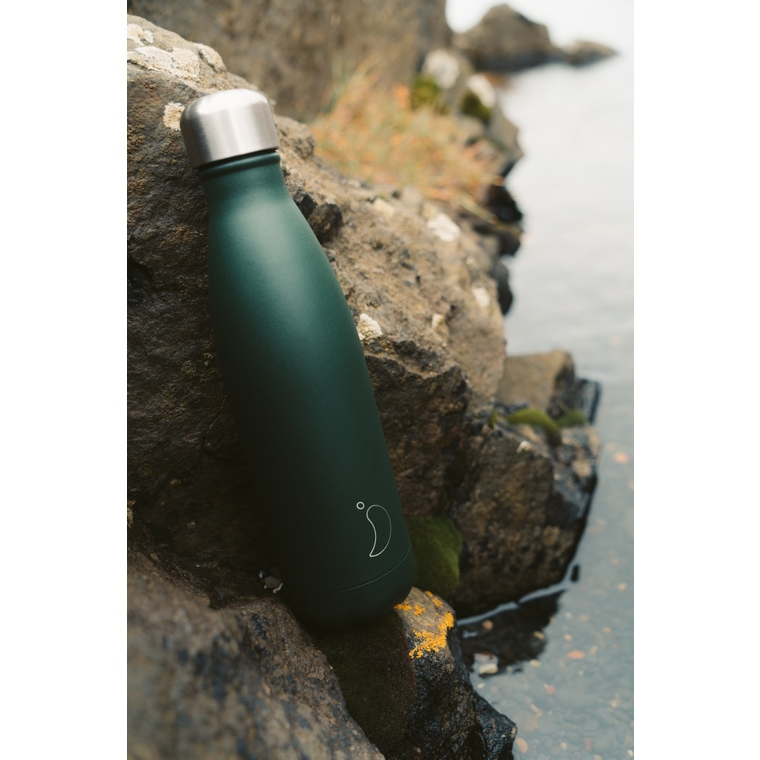 Bouteille isotherme Chilly's 500ml - Matte burnt green 662205