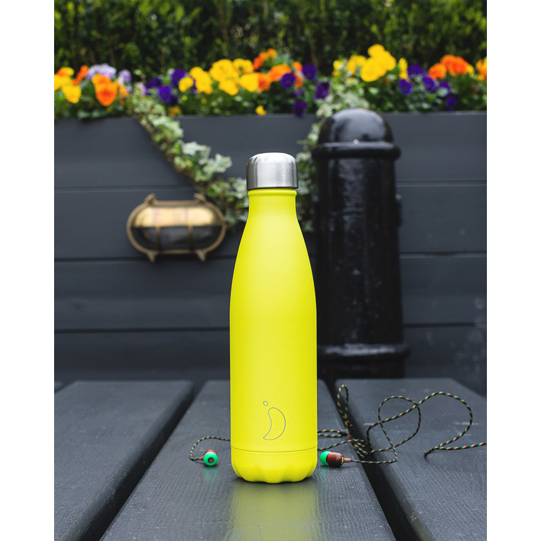Bouteille isotherme Chilly's 500ml - Neon yellow 662206