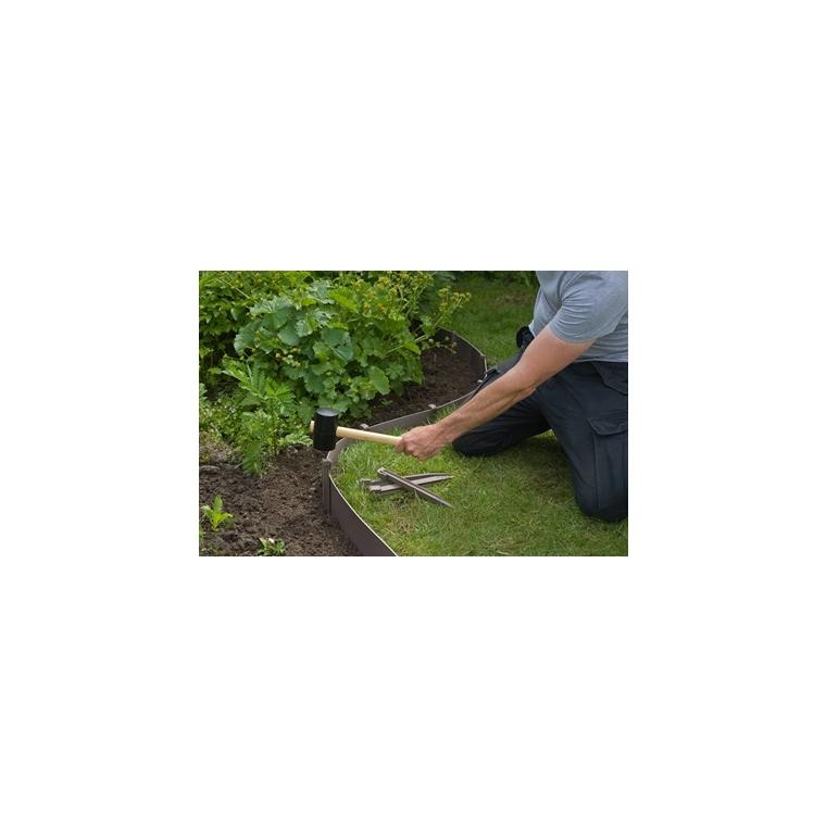 Ancres bordure de jardin x10 PP recyclé Taupe 1,9x1,8x26,7 cm 662233