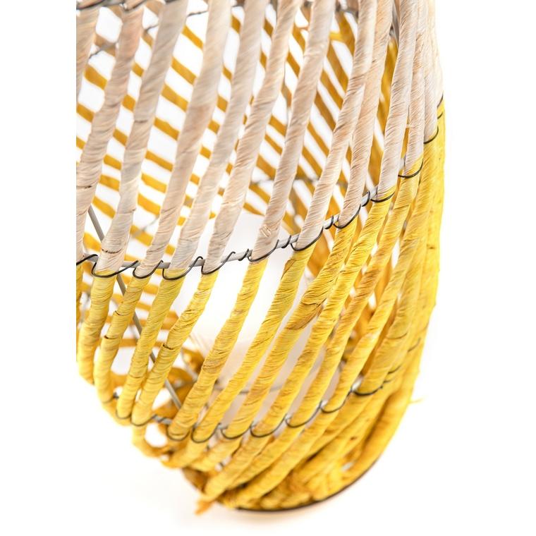 Lanterne dread bicolore grand modèle Ø 26 x H 51/62 cm 662254