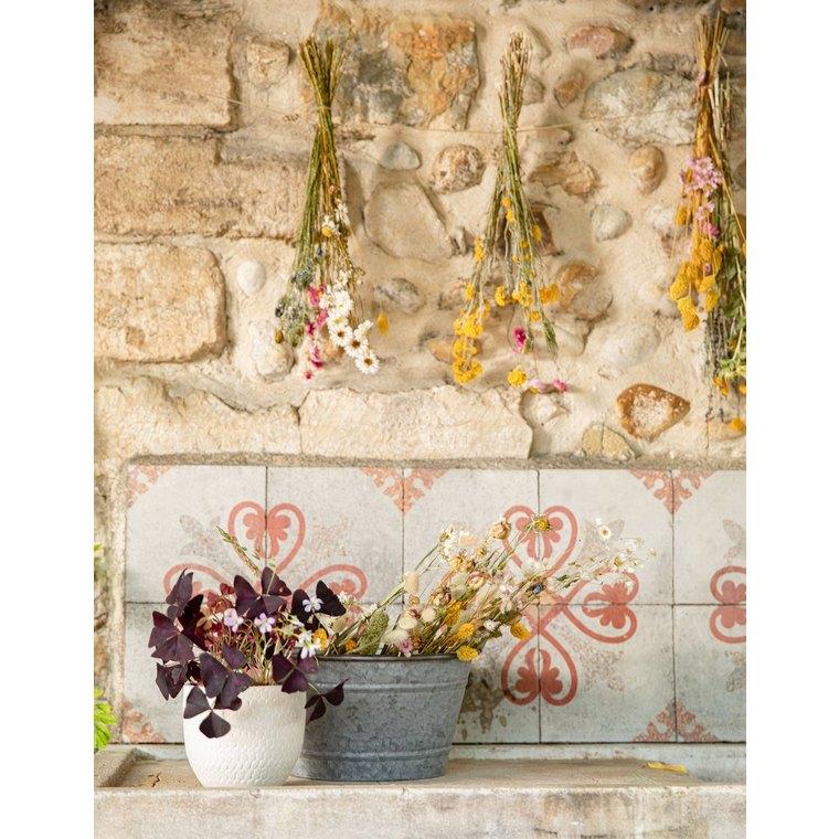 Bouquet mix de fleurs des champs séchées multicolore 40x10x55 cm 662405