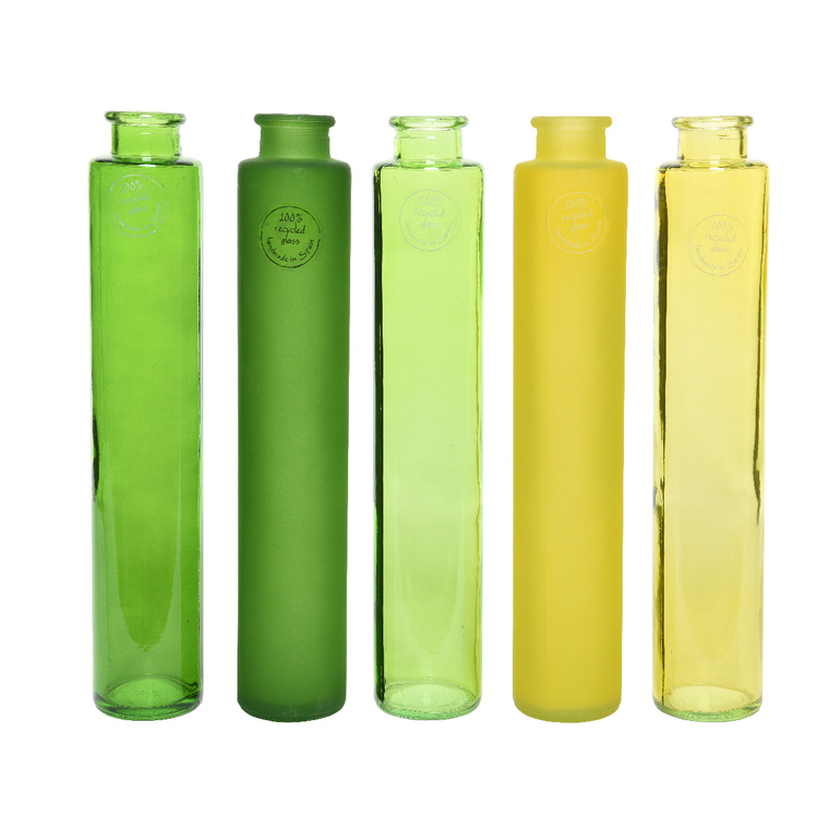 Vase verre recyclé Ø6x32 cm 662455