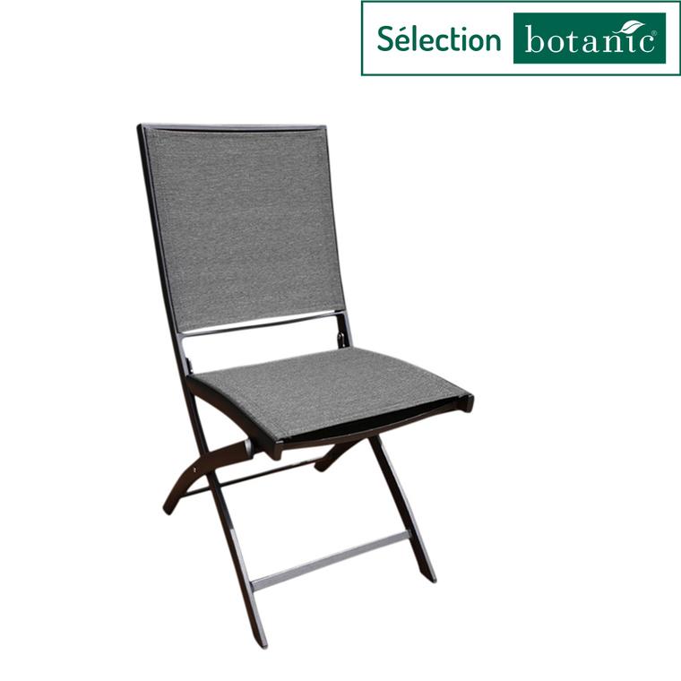 Chaise pliante Carlina noir/gris foncé 62 x 42 x 90 cm 662566